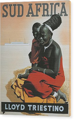 South Africa  Wood Print by Anonymous