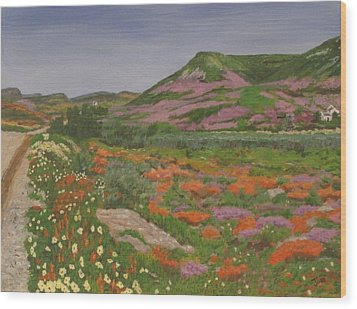 South African Grasslands Wood Print by Hilda and Jose Garrancho