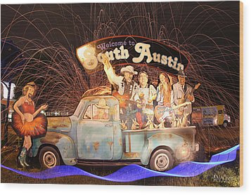 South Austin Wood Print