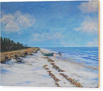 South Beach  Hilton Head Island Wood Print