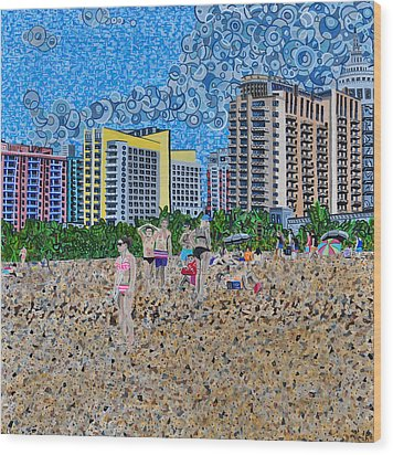 South Beach - Miami Wood Print by Micah Mullen