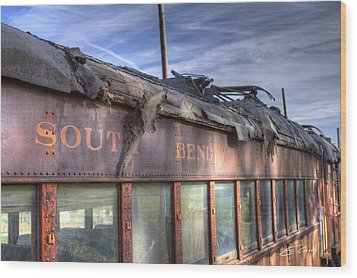 South Bend Railroad - Seen Better Days Wood Print