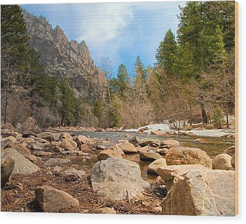 South Boulder Creek - Eldorado Canyon State Park Wood Print by Tom Potter
