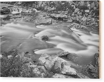 South Boulder Creek Little Waterfalls Rollinsville Bw Wood Print by James BO  Insogna