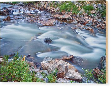 South Boulder Creek Little Waterfalls Rollinsville Wood Print by James BO  Insogna
