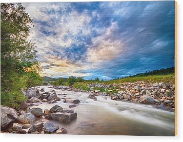 South Boulder Creek Sunset View Rollinsville Colorado Wood Print by James BO  Insogna
