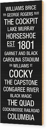 South Carolina College Town Wall Art Wood Print by Replay Photos