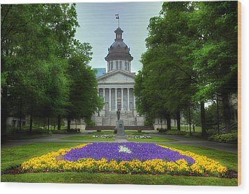 South Carolina State House Wood Print by Michael Eingle