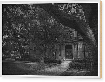 South Entry Black And White Wood Print by Marvin Spates