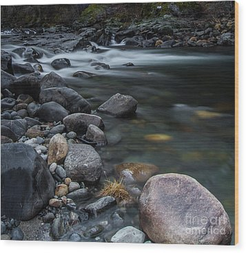 South Fork American River Wood Print by Mitch Shindelbower