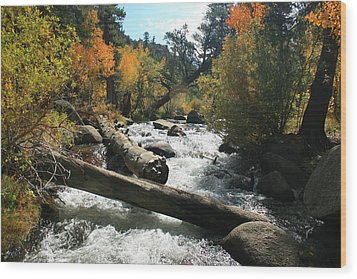 South Fork Bishop Creek Wood Print