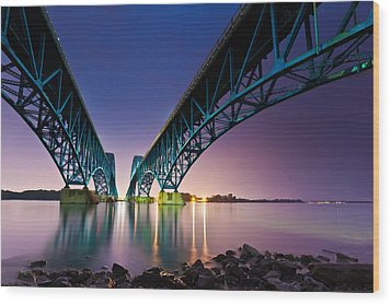 South Grand Island Bridge Wood Print