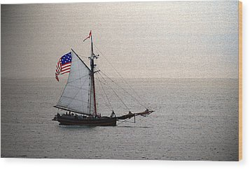 South Haven Sailing Wood Print by Penny Hunt