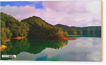 North Holston Lake Mountains Wood Print