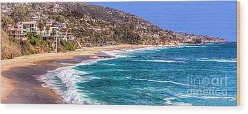 South Laguna Beach Coast Wood Print