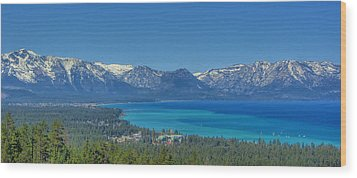 South Lake Tahoe View Wood Print by Brad Scott