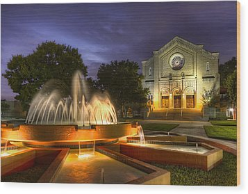 South Main Baptist Church Wood Print by Tim Stanley