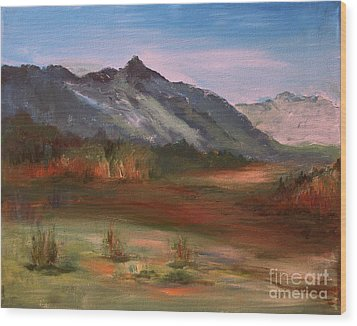 Wood Print featuring the painting South Mountain  by Julie Lueders