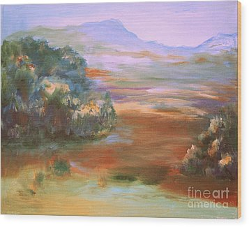 Wood Print featuring the painting South Mountain Second In The Series by Julie Lueders