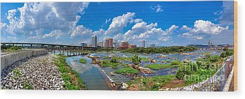 South Of The Rivah Wood Print by Tim Wilson