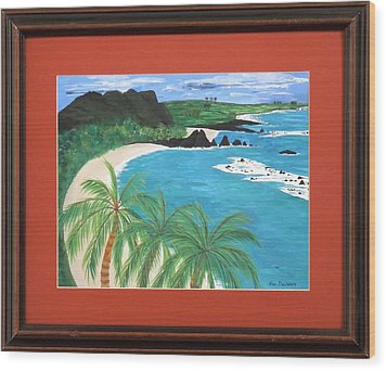 Wood Print featuring the painting South Pacific by Ron Davidson