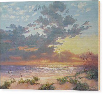 South Padre Island Splendor Wood Print by Carol Reynolds