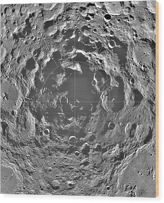 South Pole Of Moon  Wood Print by Anonymous