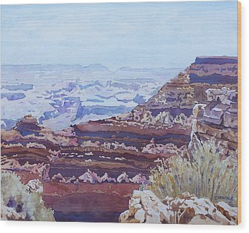 South Rim Color Wood Print by Jenny Armitage