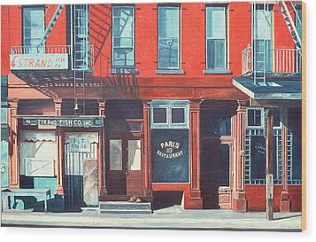 South Street Wood Print by Anthony Butera