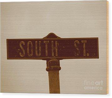 South Street Wood Print by Michael Krek
