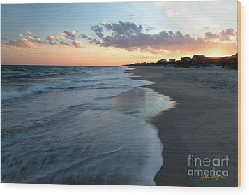 South Topsail Beach Sunset 2014 Wood Print