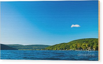 South View Of Canandaigua Lake Wood Print by Steve Clough