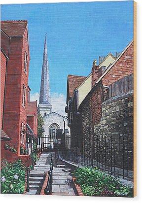 Southampton Blue Anchor Lane Wood Print by Martin Davey