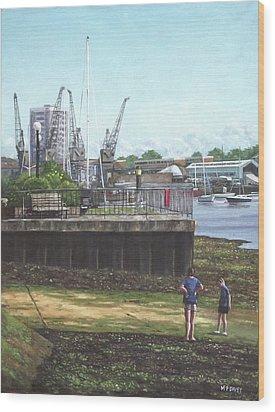 Southampton River Itchen Chapel Tredegar Wharf Wood Print by Martin Davey