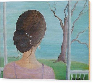 Southern Belle Wood Print by Glenda Barrett