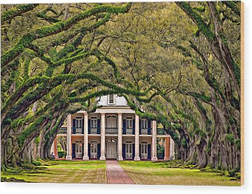 Southern Class Oil Wood Print by Steve Harrington