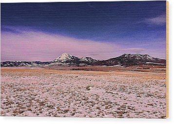 Southern Colorado Mountains Wood Print by Ron Roberts