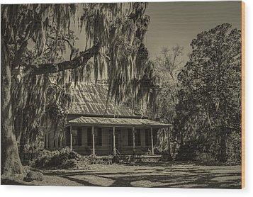 Southern Comfort Antique Wood Print by Debra and Dave Vanderlaan