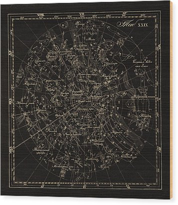 Southern Constellations, 1829 Wood Print by Science Photo Library