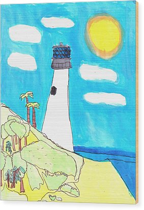 Southern Lighthouse Wood Print