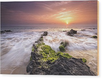 Wood Print featuring the photograph Southern Maui Sunset by Hawaii  Fine Art Photography