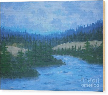 Southern Oregon Waters Wood Print by Suzanne McKay