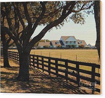 Southfork Ranch - Across The Pasture Wood Print