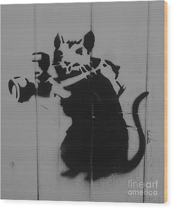 Southport Mouse Wood Print by C Lythgo