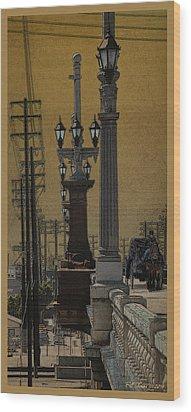 Southside Bridge Wood Print by Bill Jonas