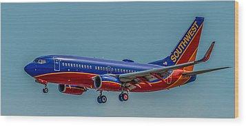 Southwest 737 Landing Wood Print