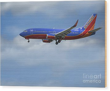 Southwest Airlines Jet Wood Print by D Wallace