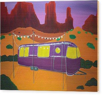 Southwest Contemporary Art - Sedona Twilight Wood Print