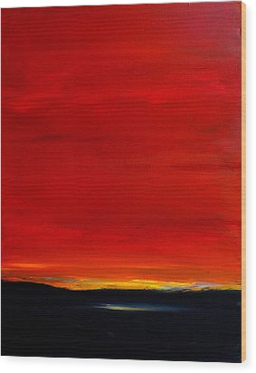 Southwest Desert Sunrise Wood Print