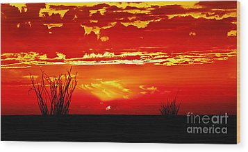 Southwest Sunset Wood Print by Robert Bales